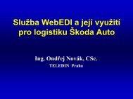 Slušba WebEDI a její vyušití pro logistiku Łkoda Auto