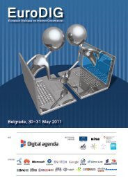 Messages from Belgrade: EuroDIG 2011 - 404 Page not found