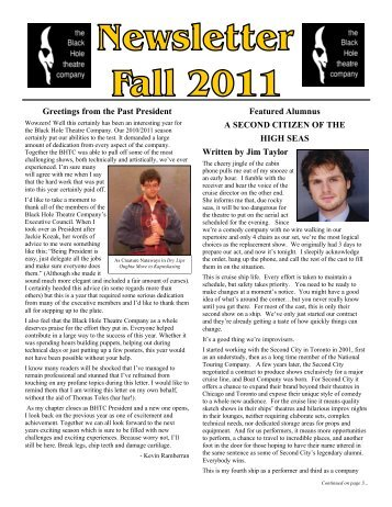 6 2012 Student, Alumni, and Faculty News - The Black Hole Theatre ...