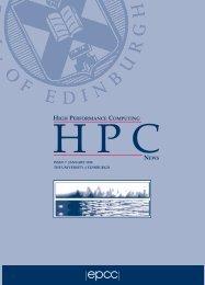 HPC News (7) - EPCC - University of Edinburgh