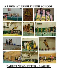 April nl.pdf - Green Bay Preble High School