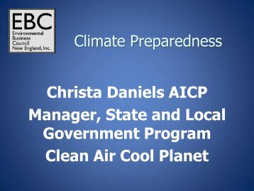Christa Daniels AICP Manager, State and Local Government ...