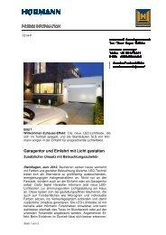 Garagentor und Einfahrt mit Licht gestalten
