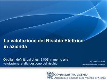 Articolo 80 - Obblighi del datore di lavoro – rischi elettrici