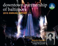 2010 Annual Report - Downtown Baltimore