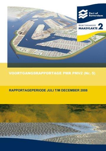 VOORTGANGSRAPPORTAGE PMR PMV2 (Nr. 5) - Maasvlakte 2