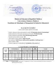 552.2 Biotehnologii Industriale - Universitatea Tehnică a Moldovei