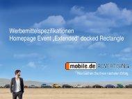 "Event ""Extended"" docked Rectangle - mobile.de Advertising"