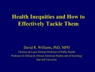 Health Inequities And How To Effectively Tackle Them - Institute of ...