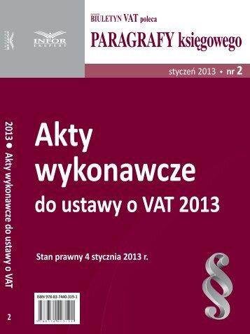 do ustawy o VAT 2013 - Infor