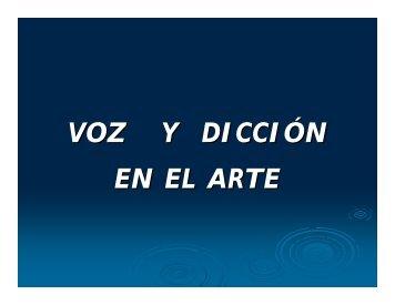 VOZ Y DICCIÓN EN EL ARTE - Infomed