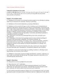 Vedtægt for Københavns Universitet I medfør af § 10, stk. 6 og 10 ...
