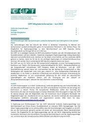 CEPF Mitgliederinformation Juli 2012