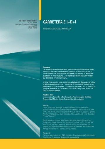 CARRETERA E I+D+i - Plataforma Tecnológica Española de la ...
