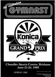 Spring - Gymnastics Australia
