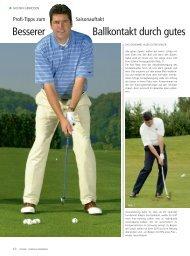 Besserer Ballkontakt durch gutes - Stefan Quirmbach Golfschule
