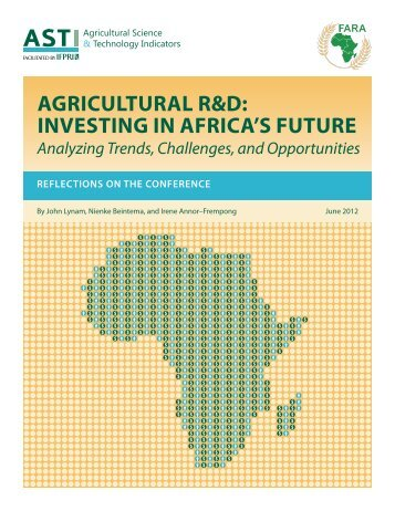 Conference Synopsis Now Available - ASTI - cgiar