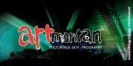 Programmheft 2014 - artmontan Kulturtage