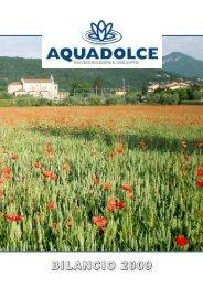 brochure BILANCIO 2009 - Aquadolce Spa