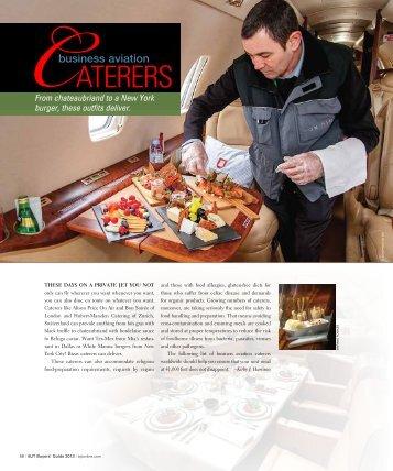 aterers - Business Jet Traveler