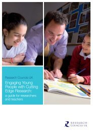 A guide for researchers and teachers - Research Councils UK