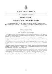 (General Dental Services Contracts and Personal Dental Services ...
