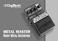 Metal Master Owner's Manual - Digitech