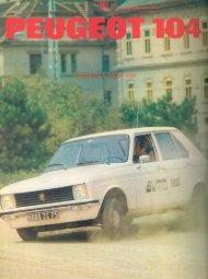 Prenesi PDF testa Peugeot Peugeot 104 - Avto Magazin