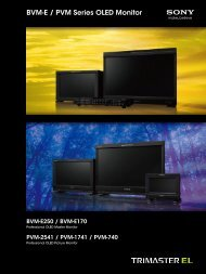 BVM-E / PVM Series OLED Monitor - Videocation
