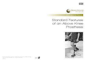 Standard Features of an Above Knee Prosthesis - Blatchford