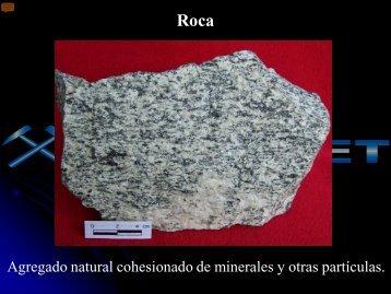 Textura de una roca - Ingemmet