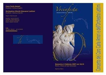 """""""C. Amori"""" e Orchestra d'archi - Istituto Musicale Pareggiato G.LETTIMI"""