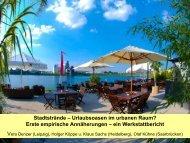 Stadtstrände – Urlaubsoasen im urbanen Raum?