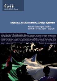 bAsHAr Al AssAD: CrImInAl AgAInst HumAnIty - FIDH