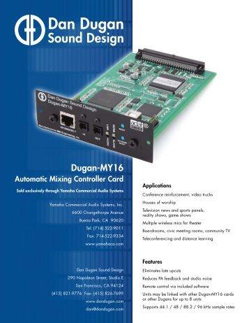 Model MY-16 Flier v2-2 - Dan Dugan Sound Design