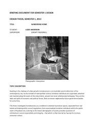 briefing document for semester 1 design design thesis, semester 1 ...