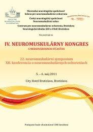 IV. neuromuskulárny kongres