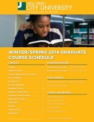 Winter/Spring 2013 graduate course information - New Jersey City ...
