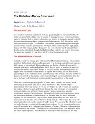 The Michelson-Morley Experiment - Galileo and Einstein