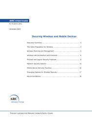 Securing Wireless and Mobile Devices - ARC Advisory Group