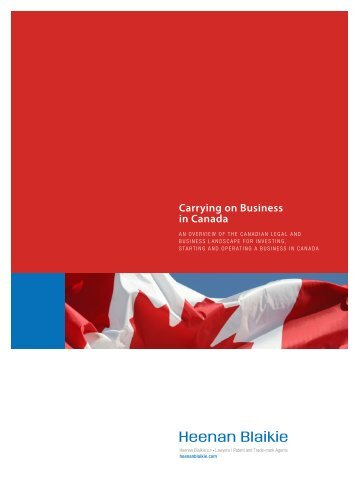 Carrying on Business in Canada