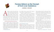 Pension Reform as the Triumph of Form over Substance - Netspar
