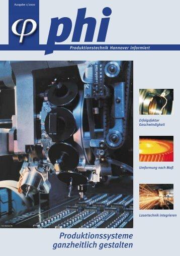 Produktionssysteme ganzheitlich gestalten - Produktionstechnik ...
