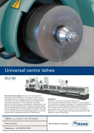 Universal centre lathes
