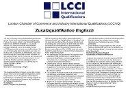 """Warum haben Sie sich für die """"Zusatzqualifikation Englisch ... - LCCI"""