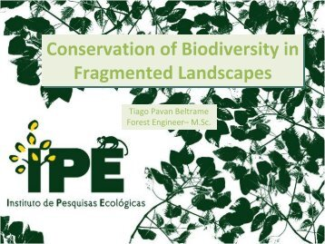 Conservation of Biodiversity in Fragmented Landscapes ...