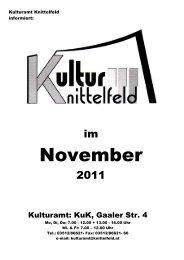 Termin: Montag, 14. November 2011 Beginn: 19 Uhr Ort - Knittelfeld