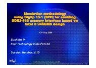 Simulation methodology using SigXp 15.1 (SPB) for enabling DDR2 ...