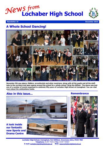 Newsletter 19 - December 2010 - Lochaber High School