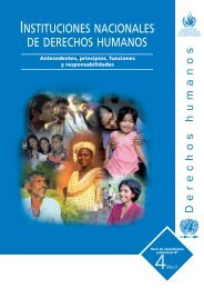 instituciones nacionales de derechos humanos - Office of the High ...